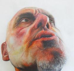 In Voice, acrylic on canvas, 90cm x 90cm, 2014