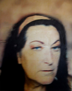 Lizzie (blurred), photo-print varnished onto canvas, 120cm x 150cm, 2015
