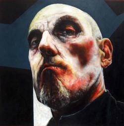 Suppression 1, acrylic on canvas, 90cm x 90cm, 2013