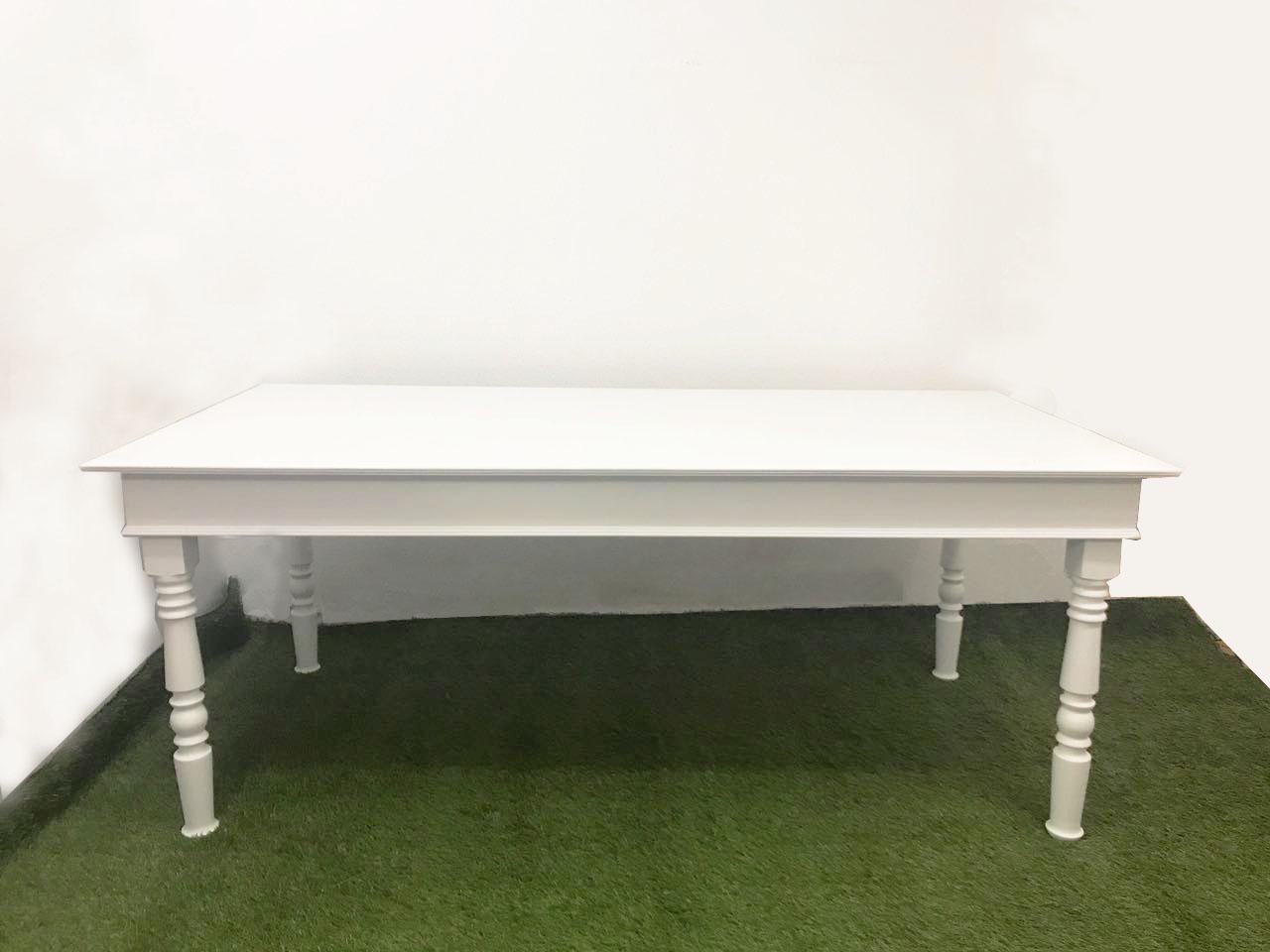 mesa branca 2m X1m