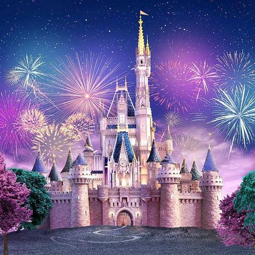 Tecido sublimado castelo Disney