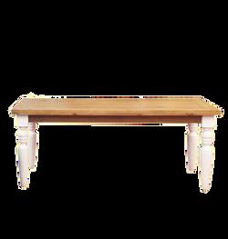 Mesa madeira pés brancos 2m X 1m