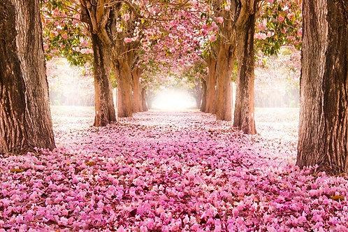 Tecido sublimado flores rosa