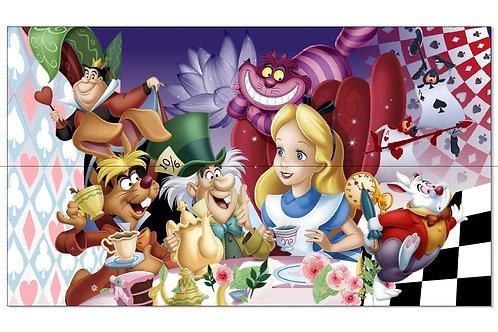 Tecido sublimado Alice mesa de chá