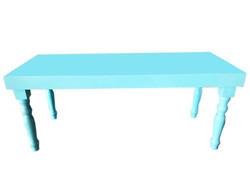 mesa laqueada azul  claro1,44 cm X 60 cm