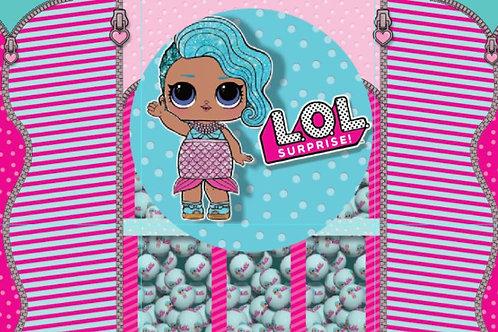Tecido sublimado Lol Splash Queen bolas lol