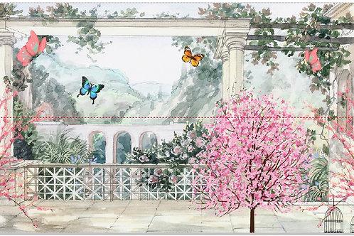 Tecido sublimado Jardim encantado