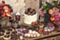 Purple Wedding Cake Table