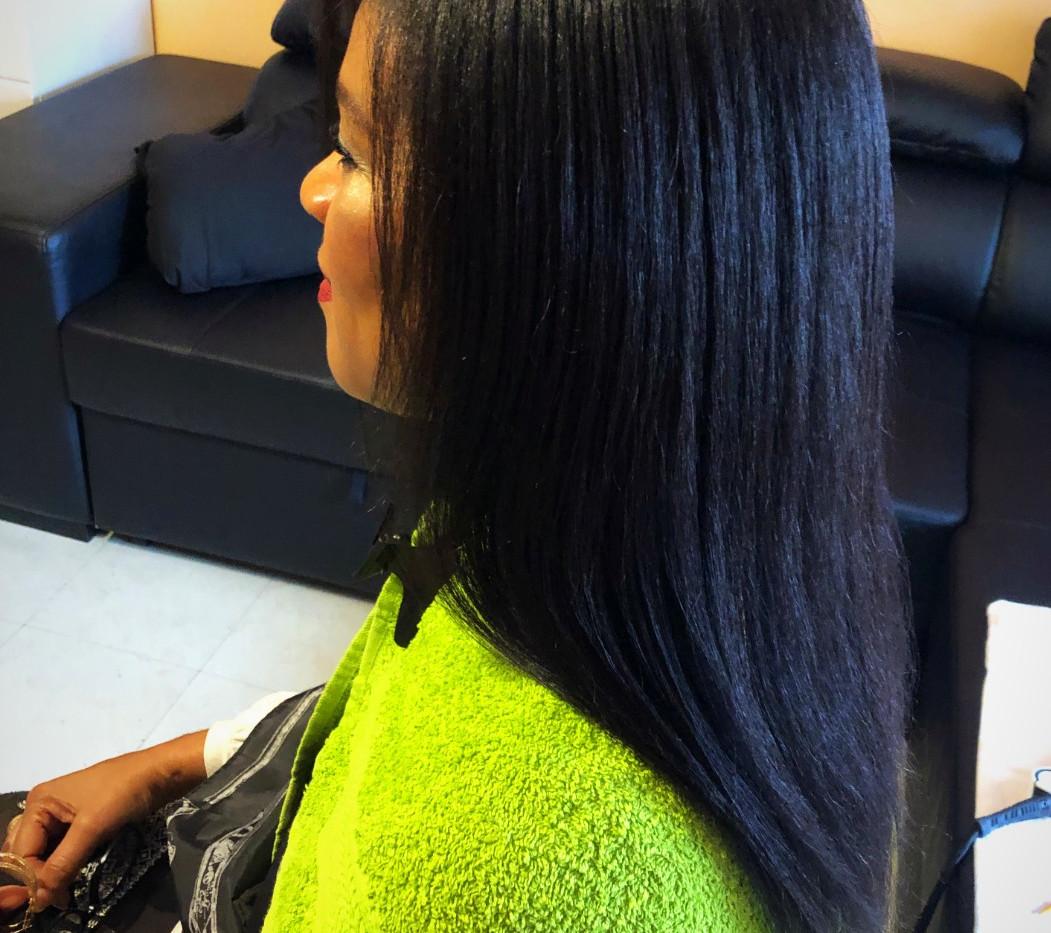 pousse rapide des cheveux afro