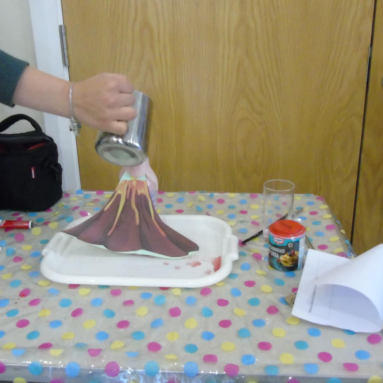 Creating a volcano