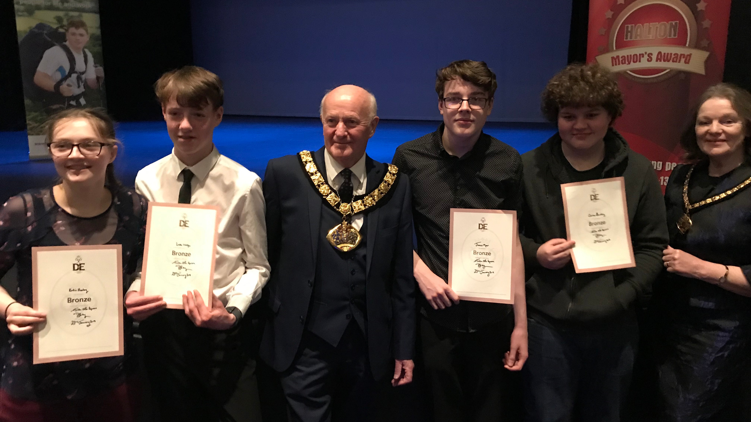 Young people with the Mayor