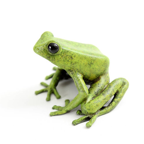 poison dart frog in bronze - large - green