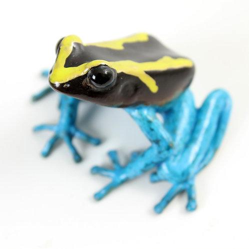 poison dart frog in bronze - large - tinctorius