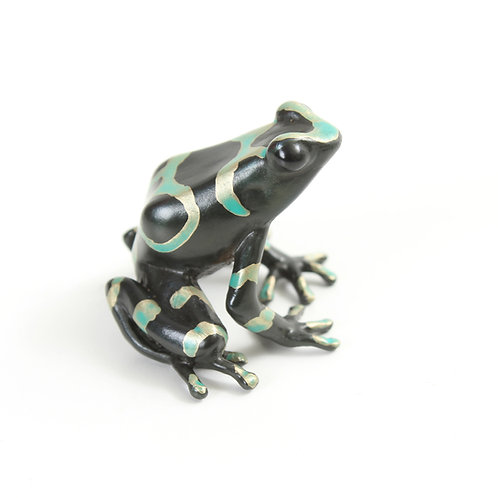poison dart frog in bronze - medium - auratus