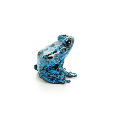poison dart frog in bronze - small - azureus