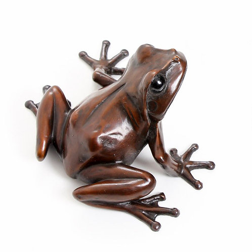 tree frog looking right - limited edition bronze