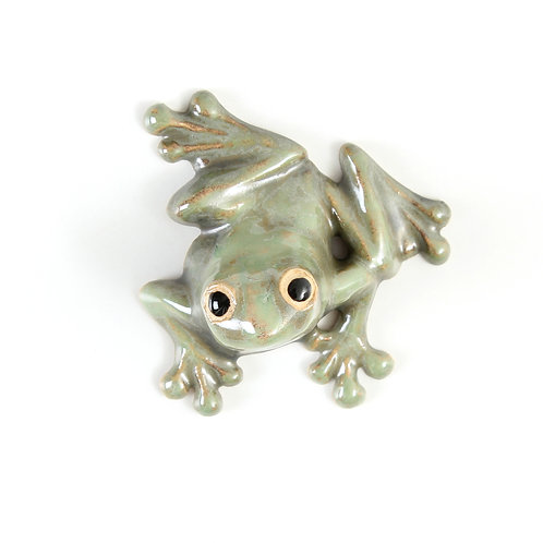 tree frog - stoneware pottery