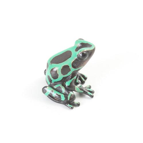 poison dart frog in bronze - small - auratus 2