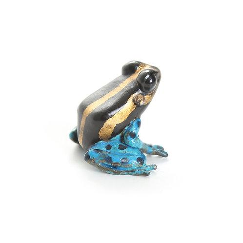poison dart frog in bronze - small - ranitomeya