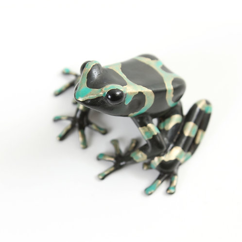 poison dart frog in bronze - large - auratus