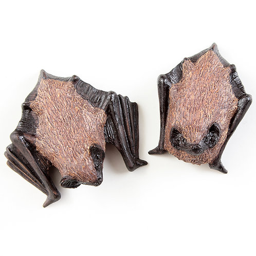 pair of pipistrelle bats Nos.1 & 3 - stoneware pottery