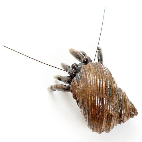 hermit crab - bronze - ORDERS TAKEN