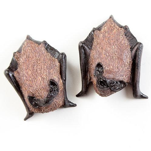 pair of pipistrelle bats Nos.1 & 2 - stoneware pottery