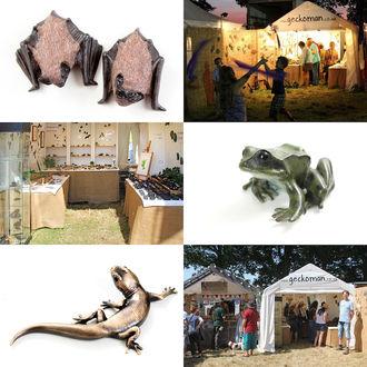 Geckoman stall at Fairport Convention's Cropredy Fetival
