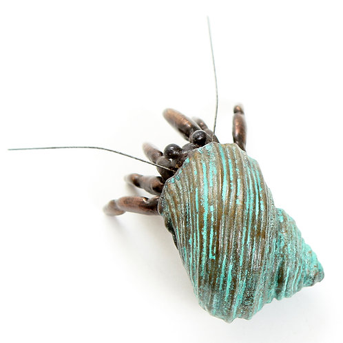 hermit crab - bronze - ORDERS TAKEN