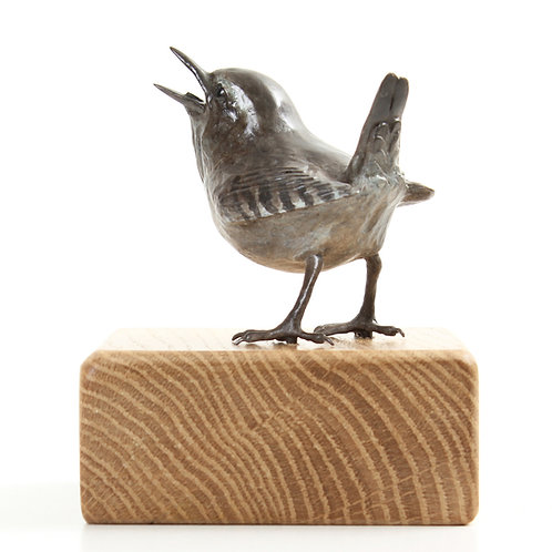 wren, male - limited edition bronze