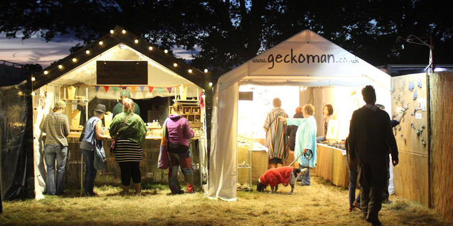 John Noble-Milner, Geckoman stall at Fairport Convention's Cropredy Fetival