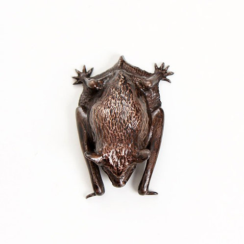 pipistrelle bat with wings folded - bronze