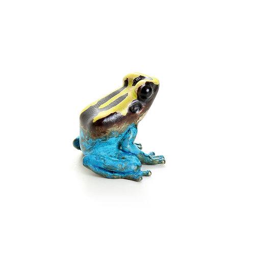 poison dart frog in bronze - small - tinctorius