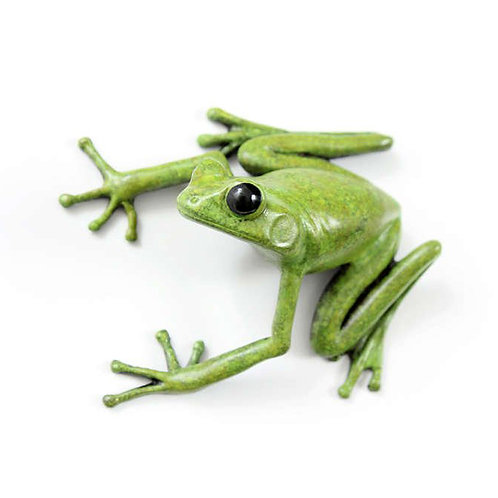 tree frog in bronze - large