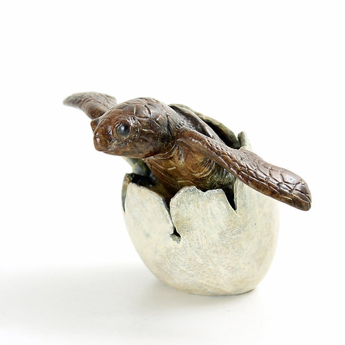 turtle hatching - limited edition bronze