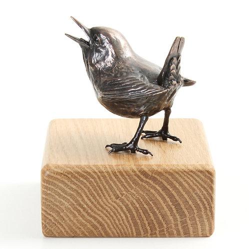 wren, male  - limited edition bronze