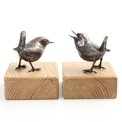 pair of wrens - limited edition bronze