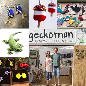 Geckoman, John Noble-Milner, wildlife sculptor at WOMAD festival