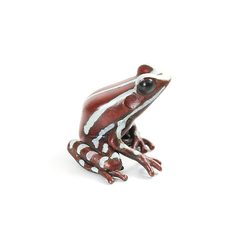 poison dart frog in bronze - small - anthonyi