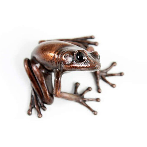 tree frog in bronze - small