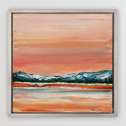 "Big Bear Lake, 12""x12"""