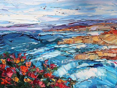 """Coastal Flowers Study, 9""""x12"""""""