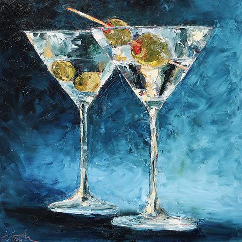 "Martinis, 20""x20"""