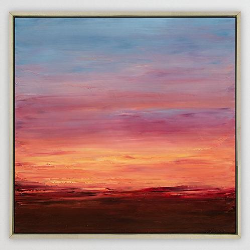 """Desert Sunset, 36""""x36"""""""
