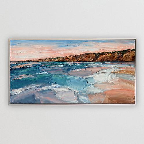 "Pastel Coast, 24""x48"""