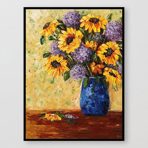 """Sunflower Explosion, 40""""x30"""""""