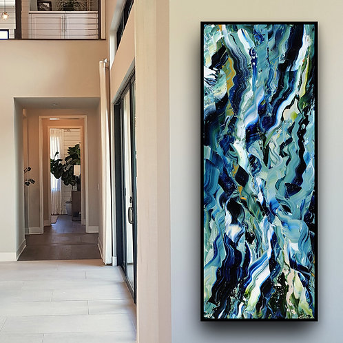 "Twisted Seas, 16""x40"""