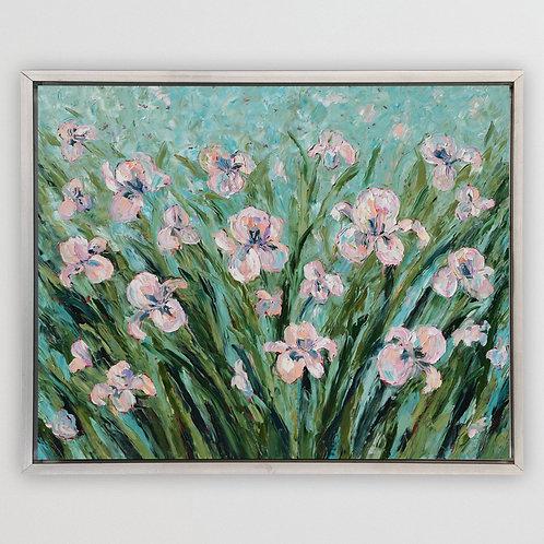 "Iris Bloom, 48""x60"""