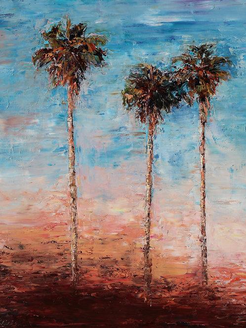 """California Palms, 24""""x30"""""""