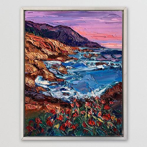 """Lavender Sea (Study), 14""""x11"""""""